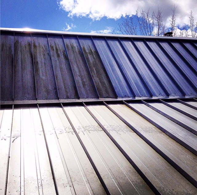 Awesome Our Recent Metal Roof Cleaning Results
